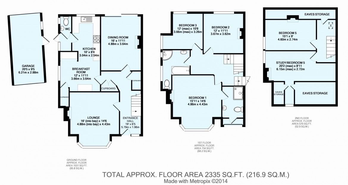 Floorplans For Foxley Lane, West Purley, Surrey