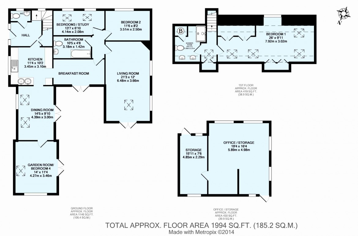 Floorplans For Woodcote Grove, West Coulsdon, Surrey