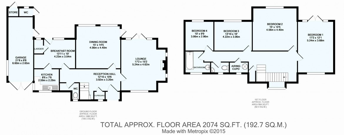 Floorplans For Sandilands, Croydon, Whitgift Foundation, Surrey