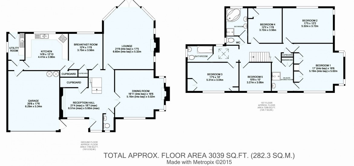 Floorplans For Walburton Road, Woodcote Estate, Purley, Surrey