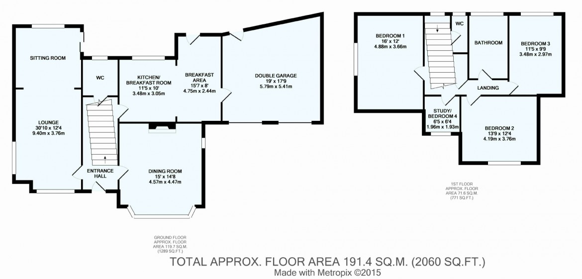 Floorplans For Bridle Way, Coulsdon, Surrey