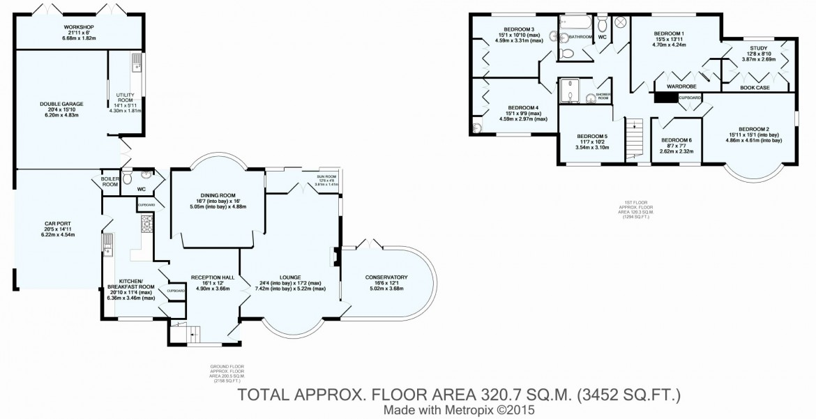 Floorplans For Woodland Way (HIST), Purley, Surrey