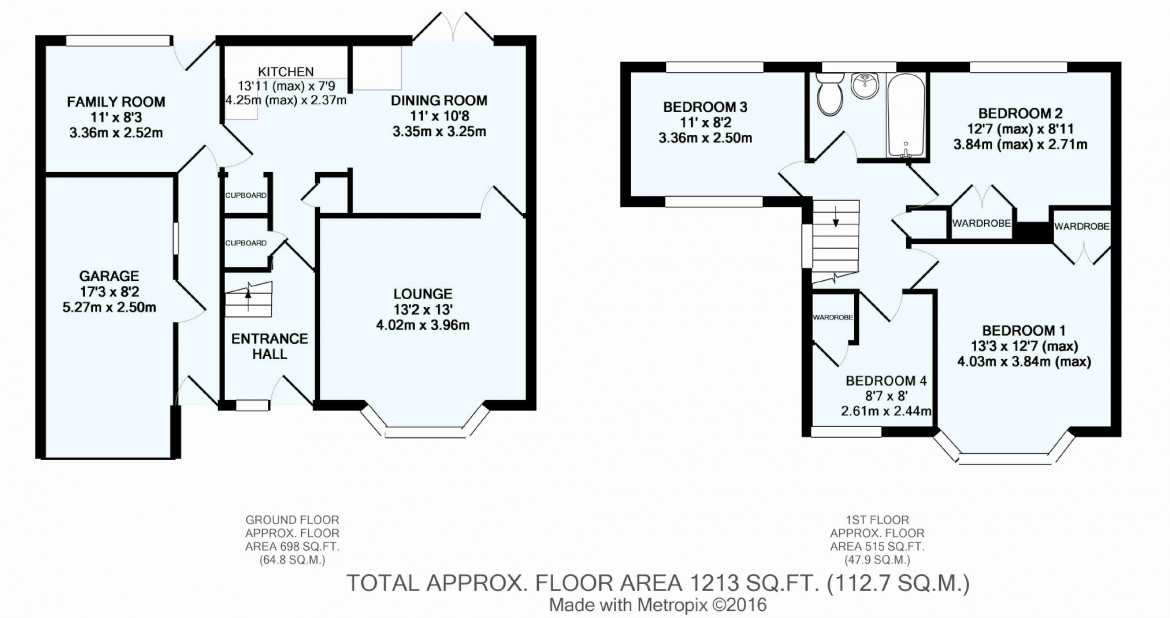 Floorplans For Holmwood Avenue, South Croydon