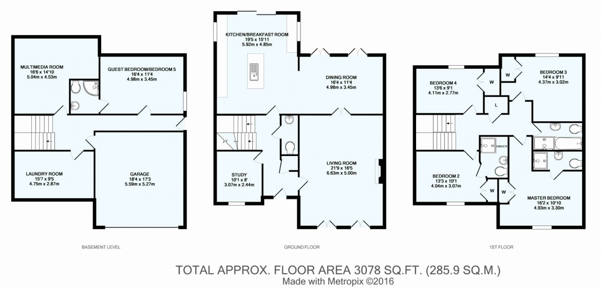 Floorplans For Chynham Place, Sanderstead, South Croydon, Surrey