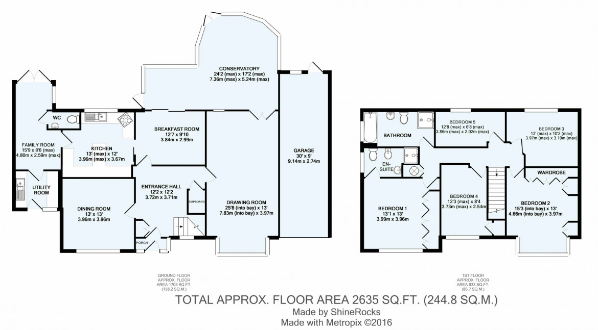 Floorplans For Box Ridge Avenue, West Purley, Surrey