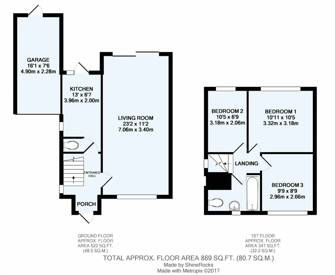 Floorplans For Lower Barn Road, Purley