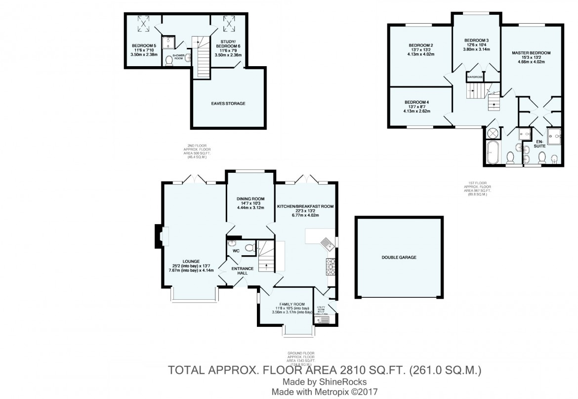 Floorplans For Sovereign Close, Purley, Surrey