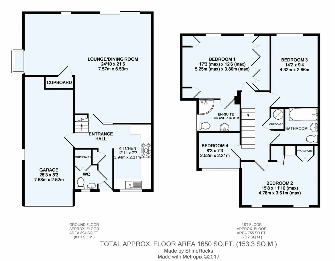 Floorplans For Reynolds Way, Croydon