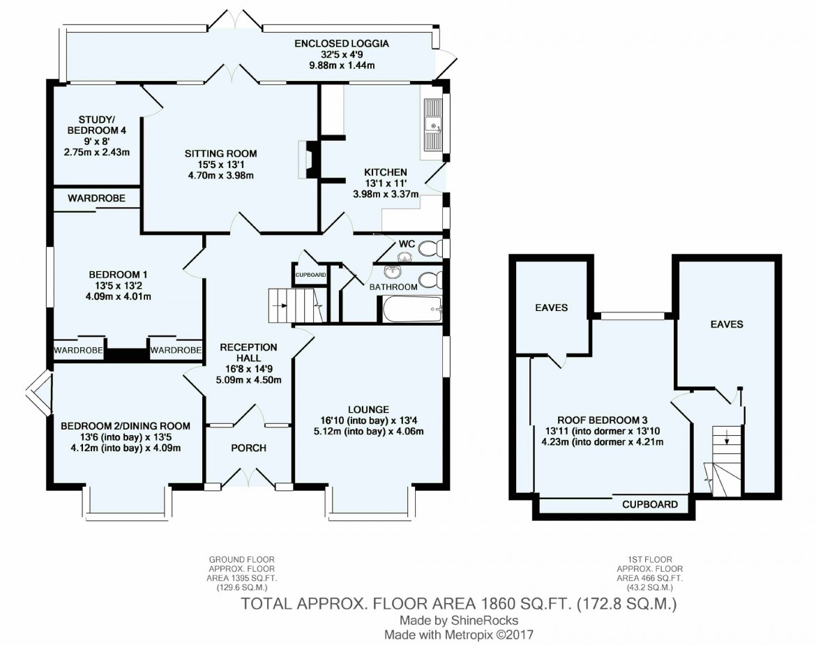 Floorplans For Woodcote Road, Purley, Surrey