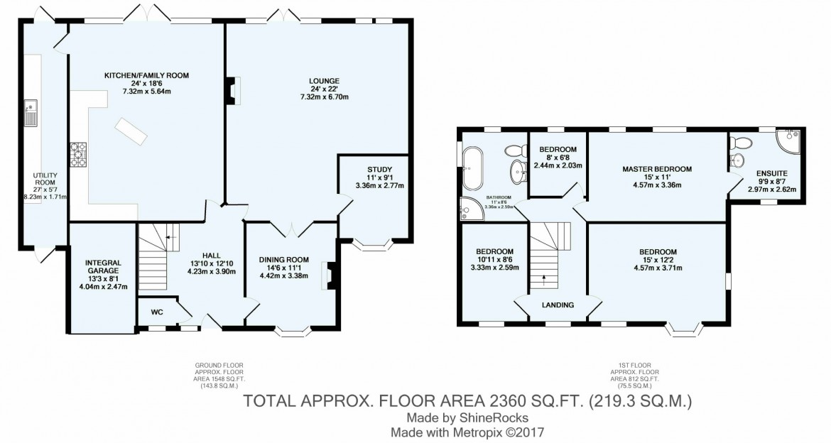 Floorplans For Woodside Road, West Purley, Surrey