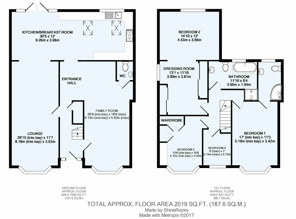 Floorplans For Melrose Road, Coulsdon, Surrey