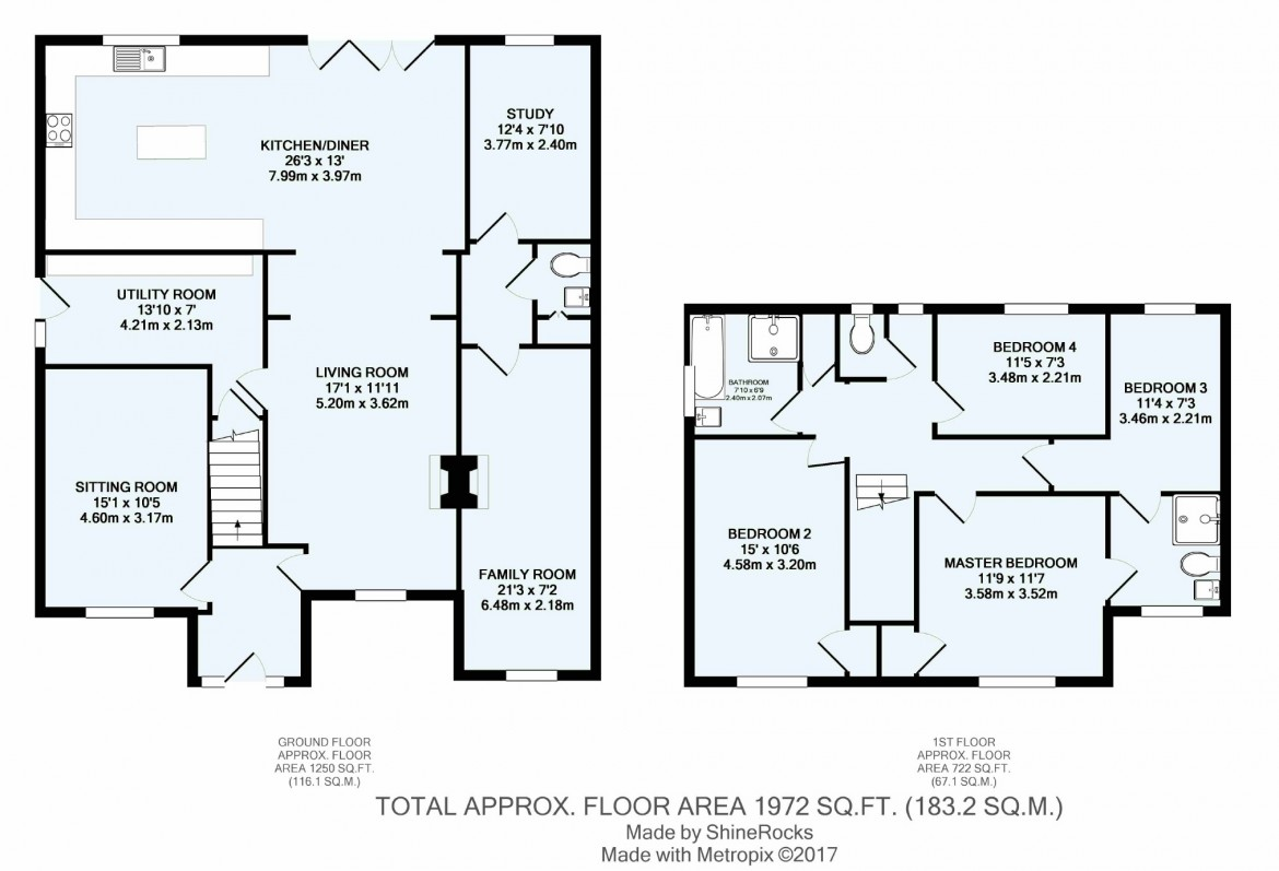 Floorplans For Mount Park Avenue, South Croydon, Surrey