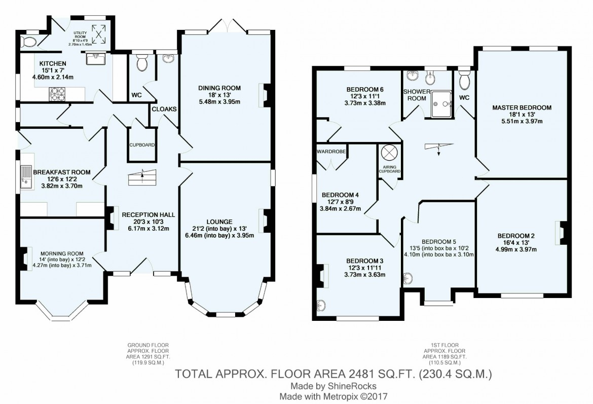 Floorplans For Purley Rise, Purley, Surrey