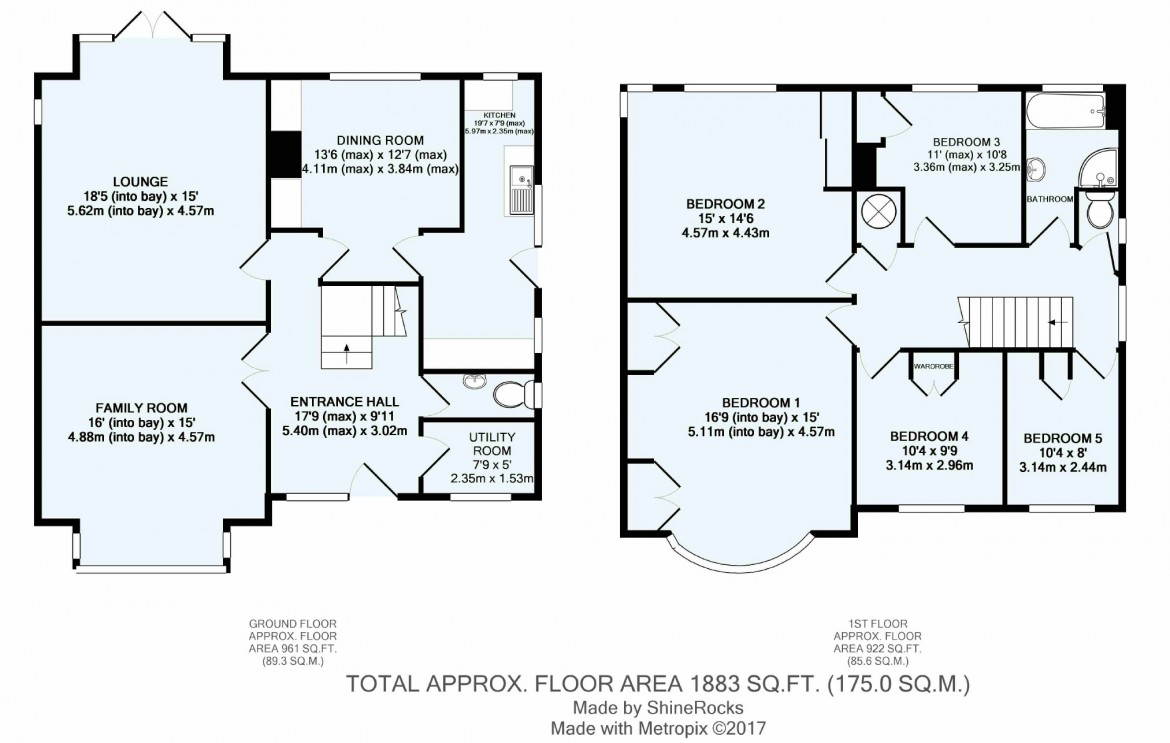 Floorplans For Woodcrest Road, Purley, Surrey