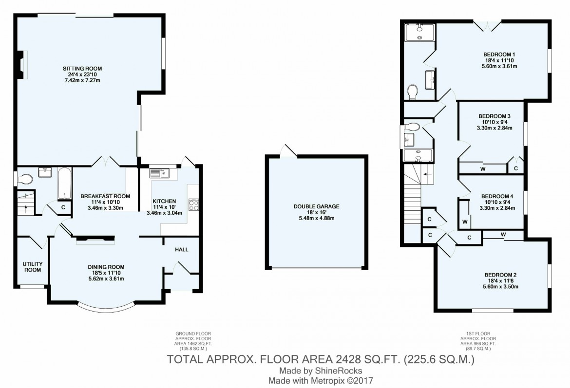 Floorplans For Woodmansterne Lane, Carshalton