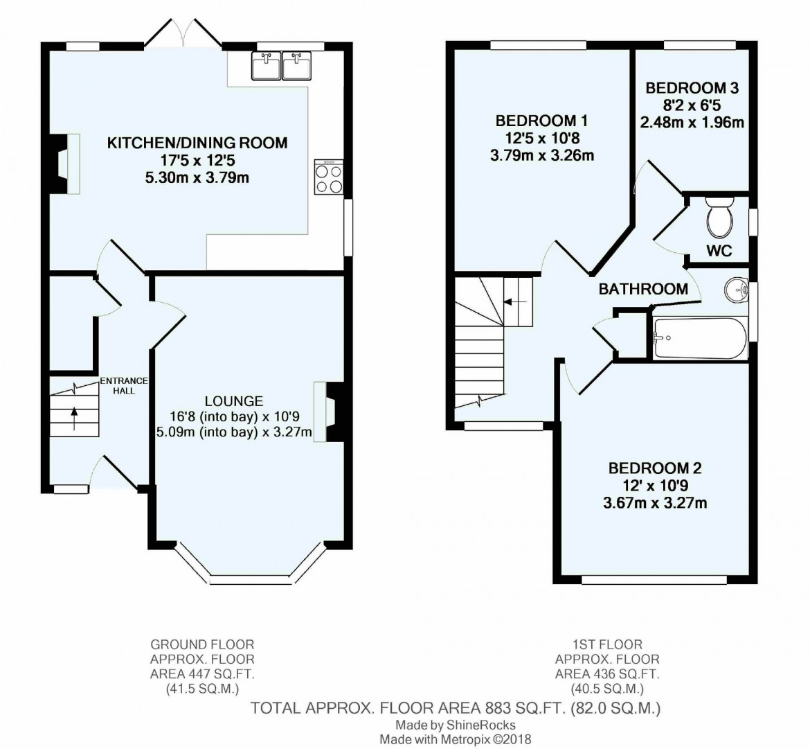 Floorplans For Temple Road, South Croydon, Surrey