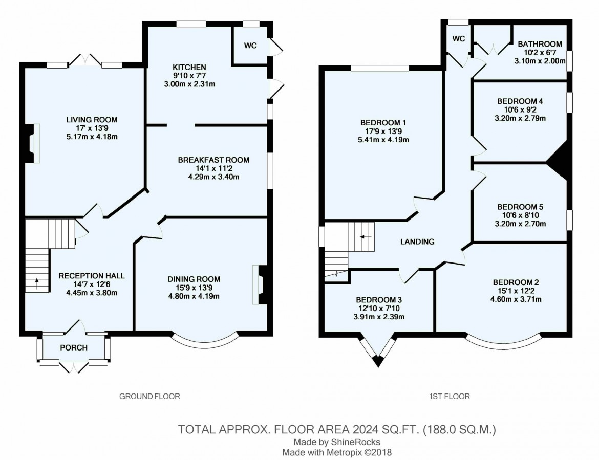 Floorplans For Highfield Road, Purley, Surrey