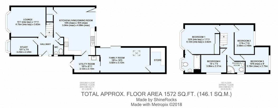 Floorplans For Chaldon Way, Coulsdon, Surrey