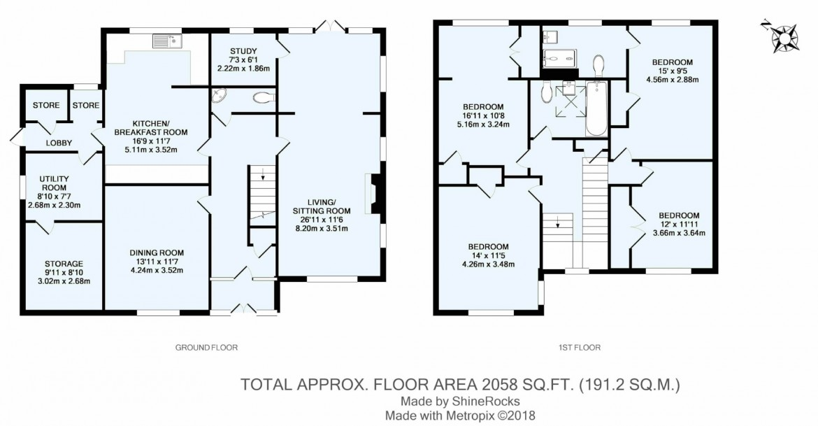 Floorplans For Bankside, Croham Hurst, South Croydon, Surrey