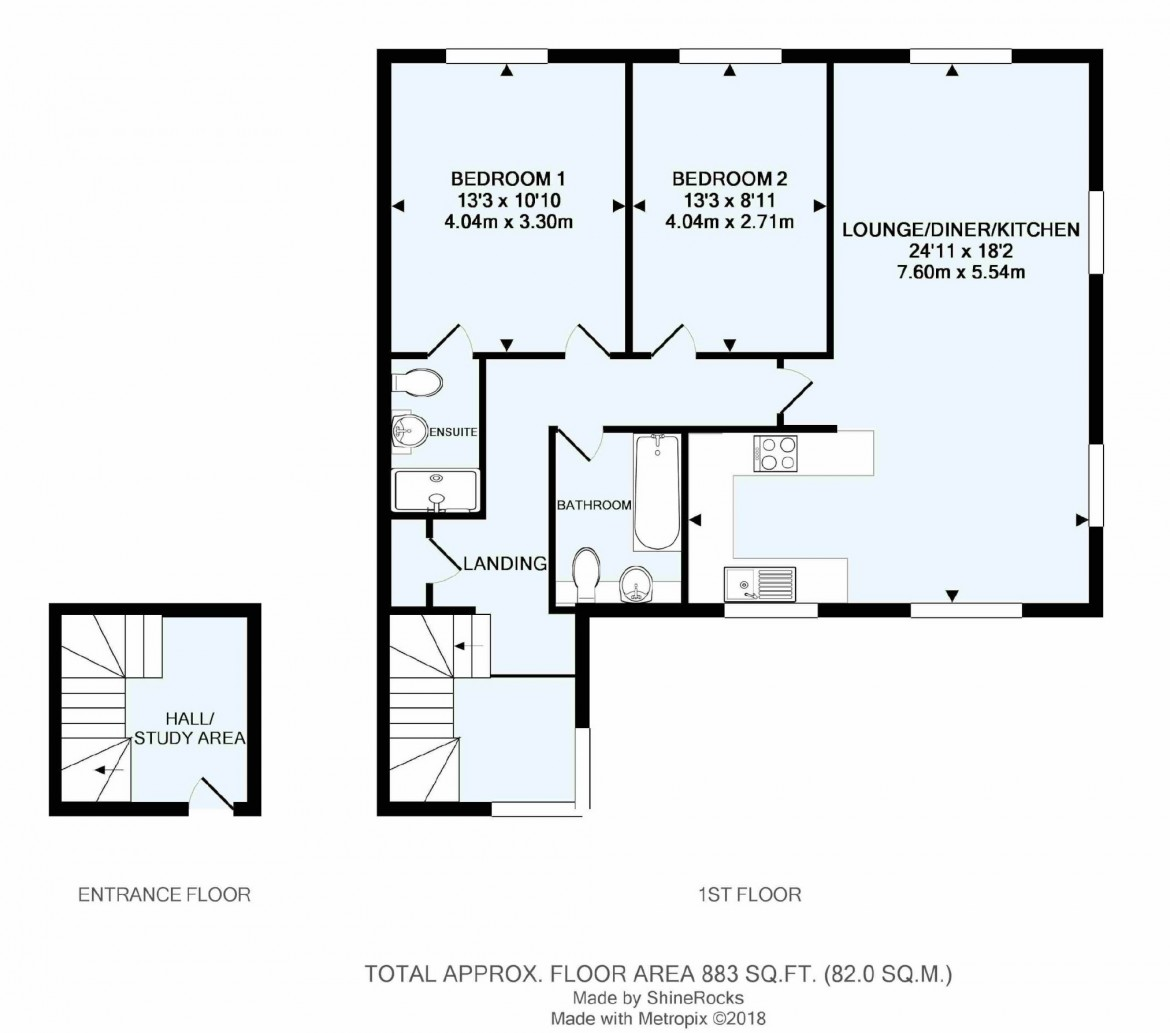 Floorplans For Upper Woodcote Village, Webb Estate, Purley