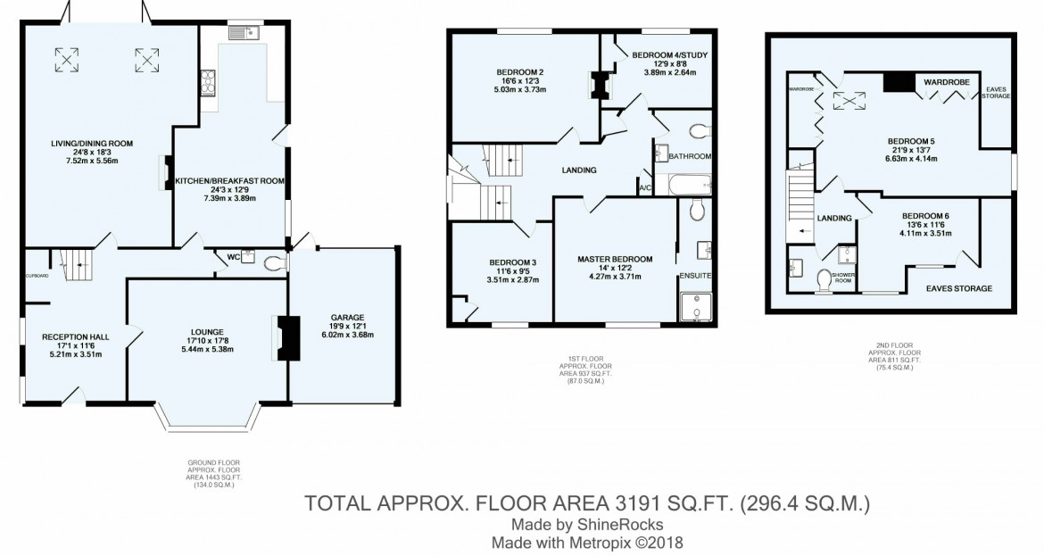Floorplans For Russell Hill, Purley, Surrey