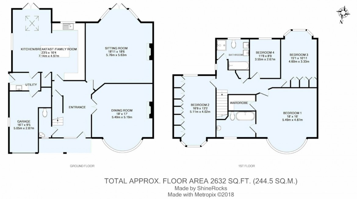 Floorplans For Great Woodcote Park, Purley, Surrey