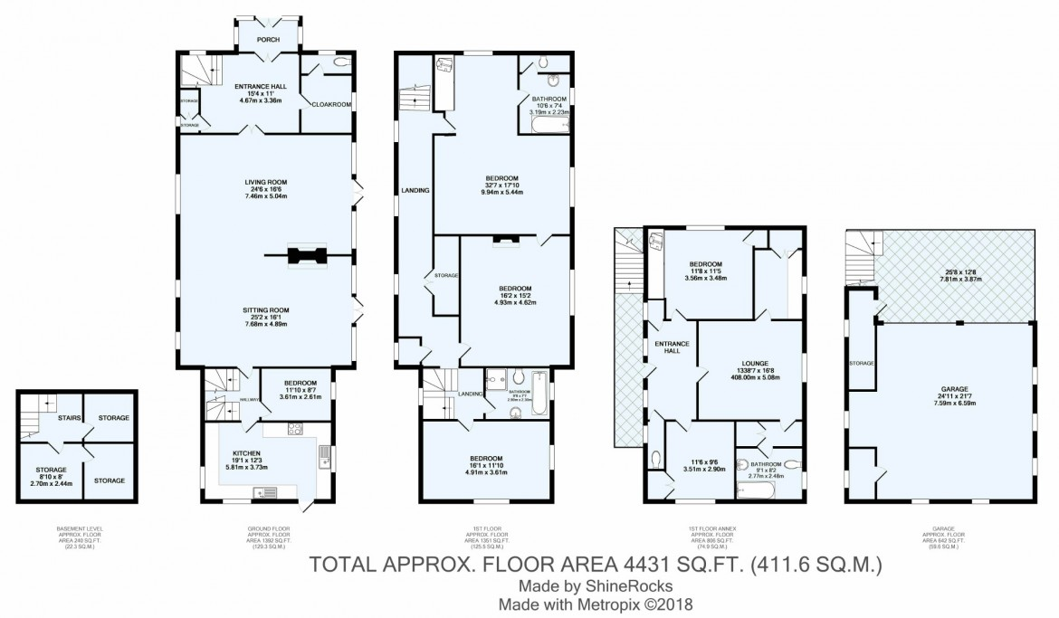 Floorplans For Birch Lane, Webb Estate, Purley, Surrey