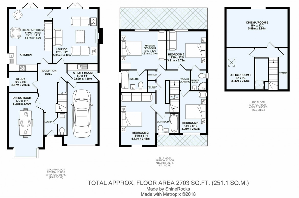 Floorplans For Deacon Close, Purley, Surrey