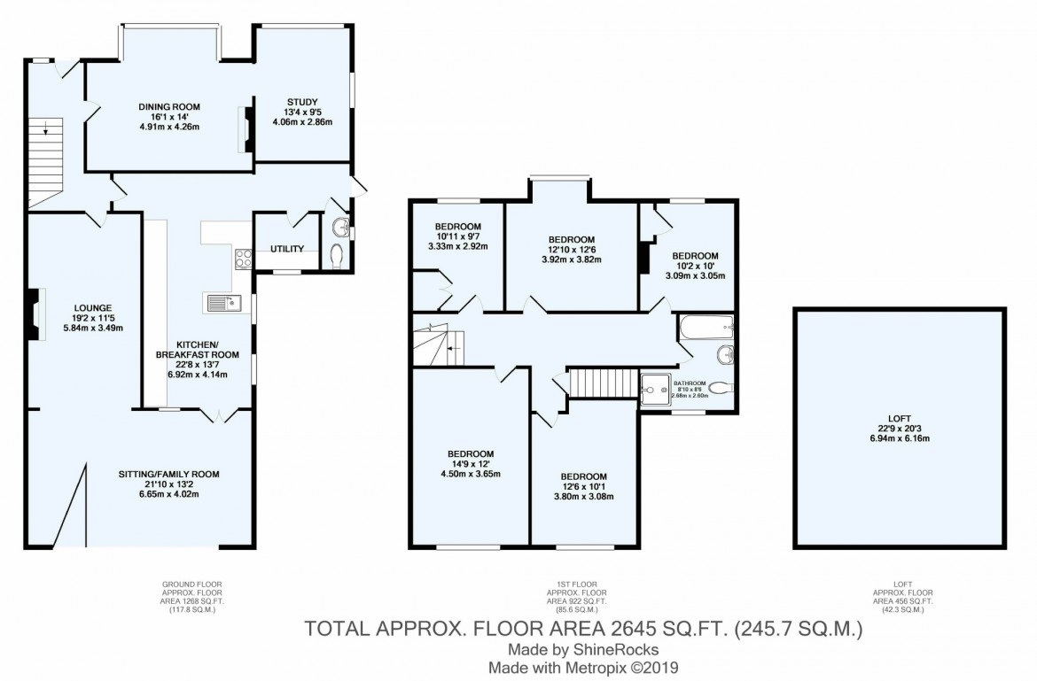 Floorplans For Smitham Bottom Lane, Purley, Surrey