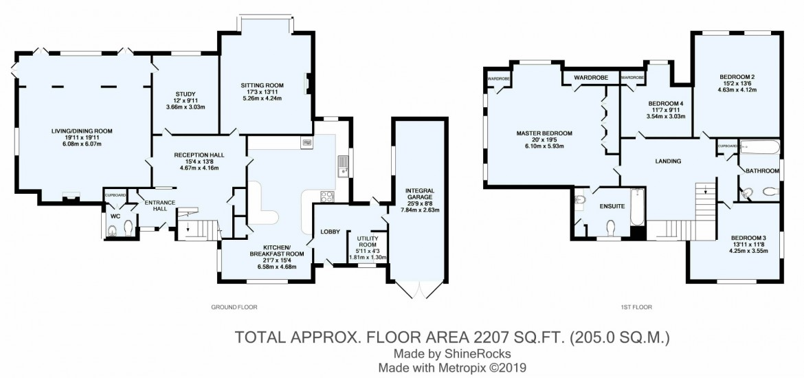 Floorplans For Woodland Way, Purley, Surrey