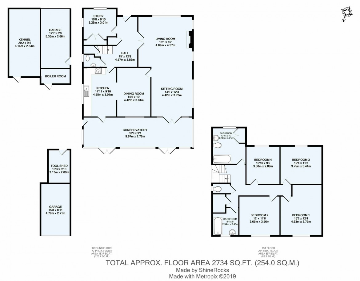 Floorplans For High Beech, Croham Hurst, South Croydon, Surrey