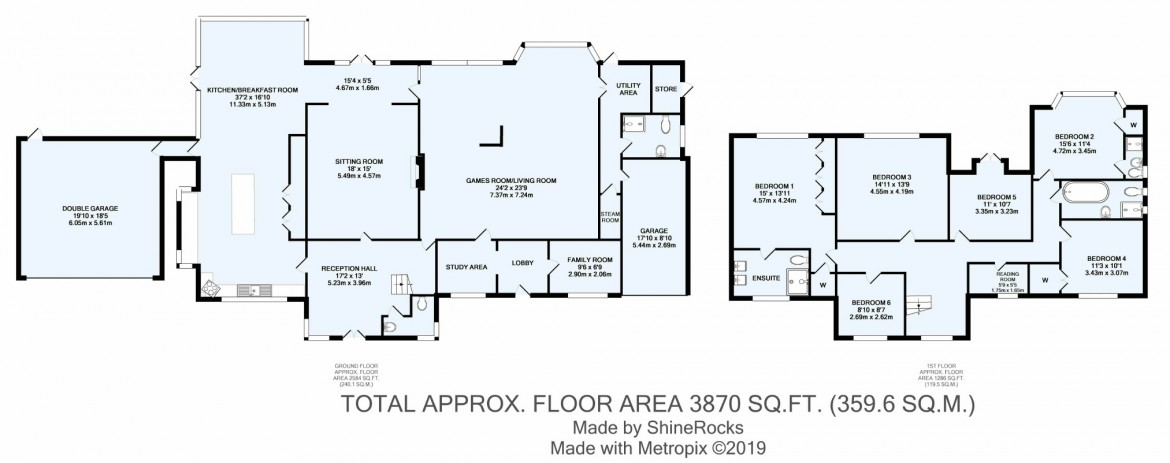 Floorplans For Verulam Avenue, Woodcote Estate, Purley, Surrey
