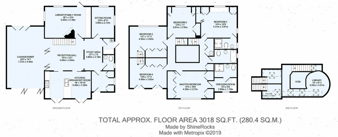 Floorplans For Hook Hill, Sanderstead, Surrey