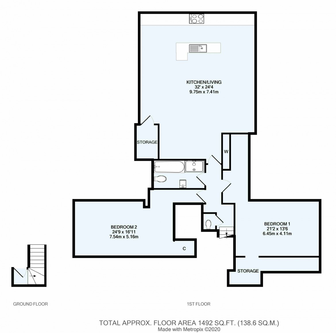 Floorplans For Welcomes Road, Kenley, Surrey