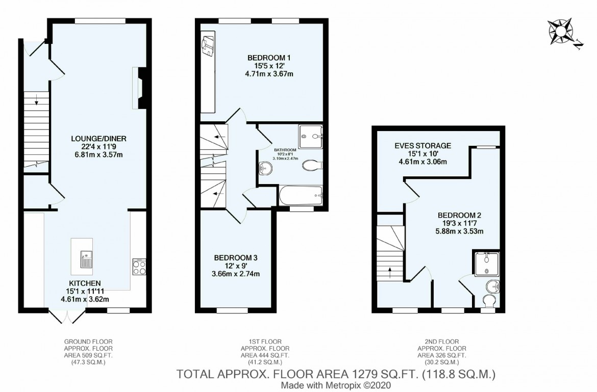Floorplans For Harrisons Rise, Croydon