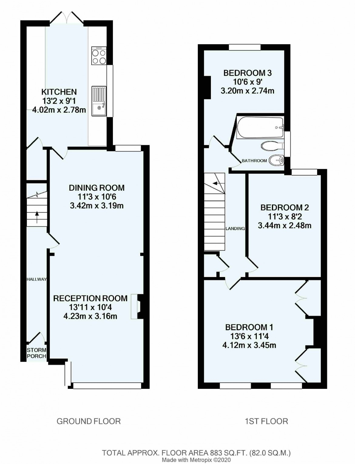 Floorplans For Sunnydene Road, Purley