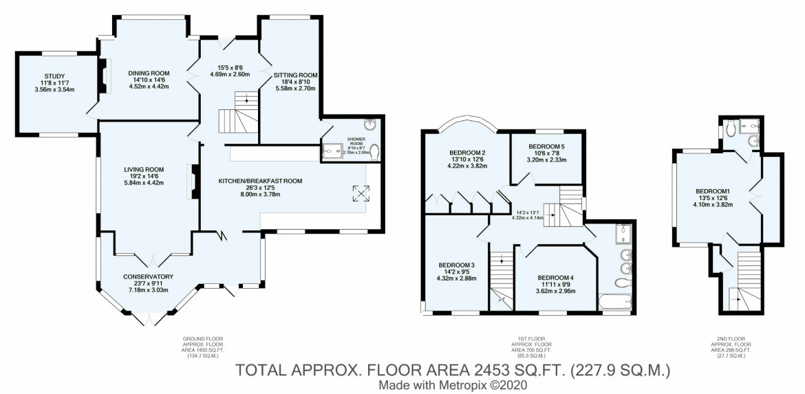 Floorplans For Woodcote Valley Road, Purley, Surrey