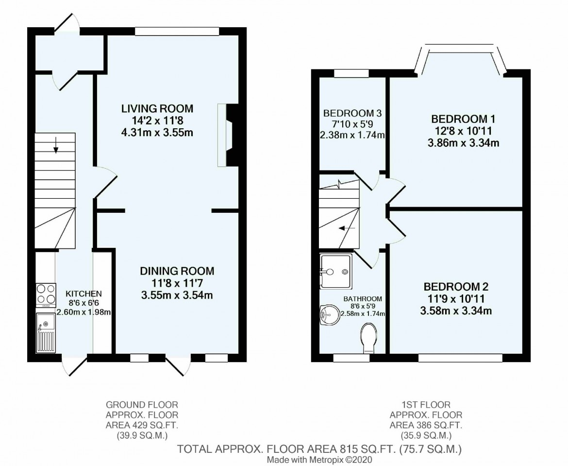 Floorplans For Braemar Avenue, South Croydon, Surrey