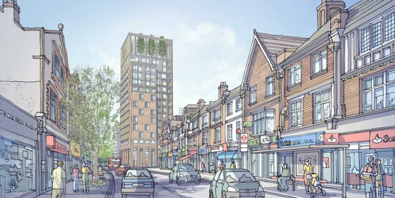 First Purley skyscraper plans revealed